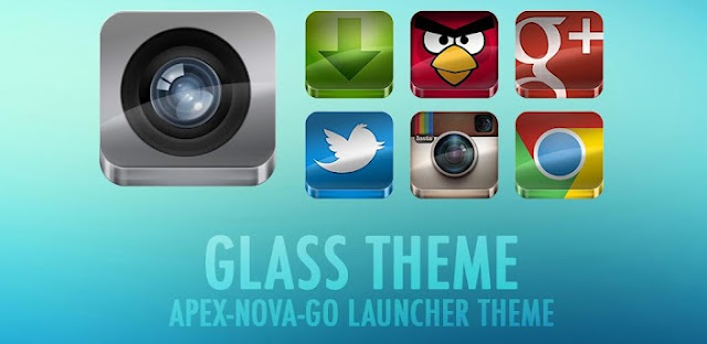 GLASS APEX/NOVA/GO THEME v3.8 APK