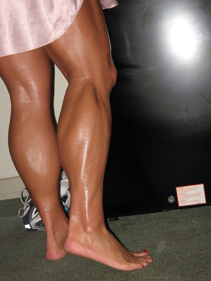 muscular oiled