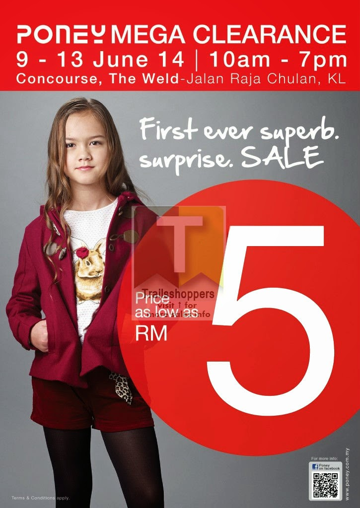 Poney Mega Clearance Sale Price As Low As RM5 at the weld kl