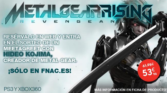 Solo en Fnac.es - Metal Gear Rising: Revengeance: resérvalo y entra en el sorteo para conocer a su creador, Hideo Kojima