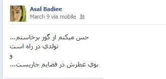 فیسبوک عسل بدیعی