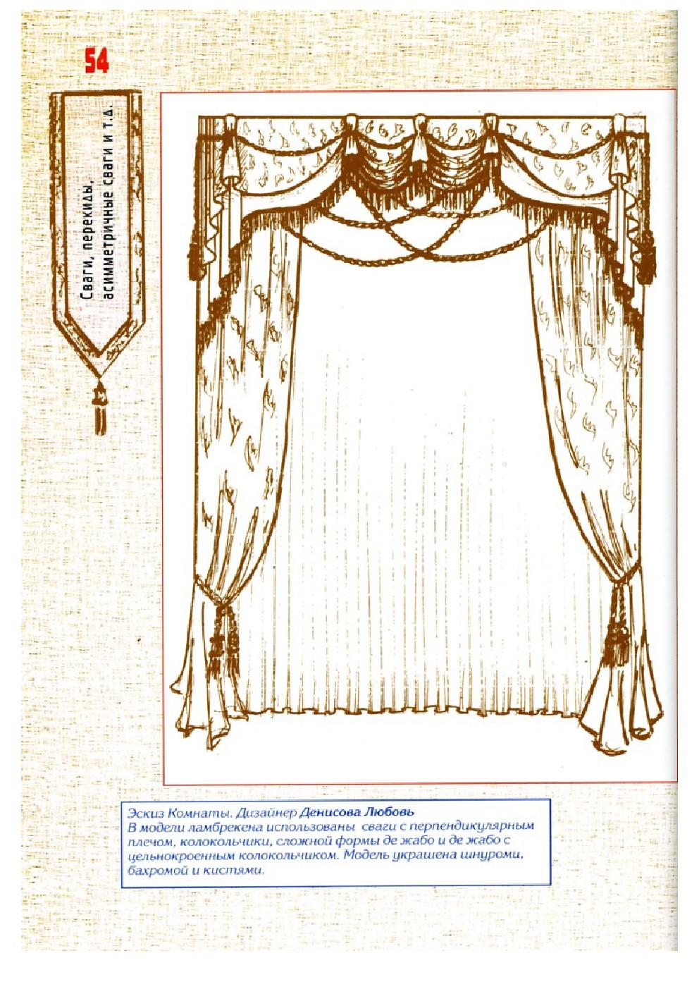 Шторы ламбрекены схемы