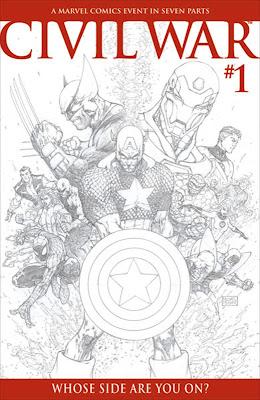 Civil War #1 Michael Turner Sketch Variant Cover