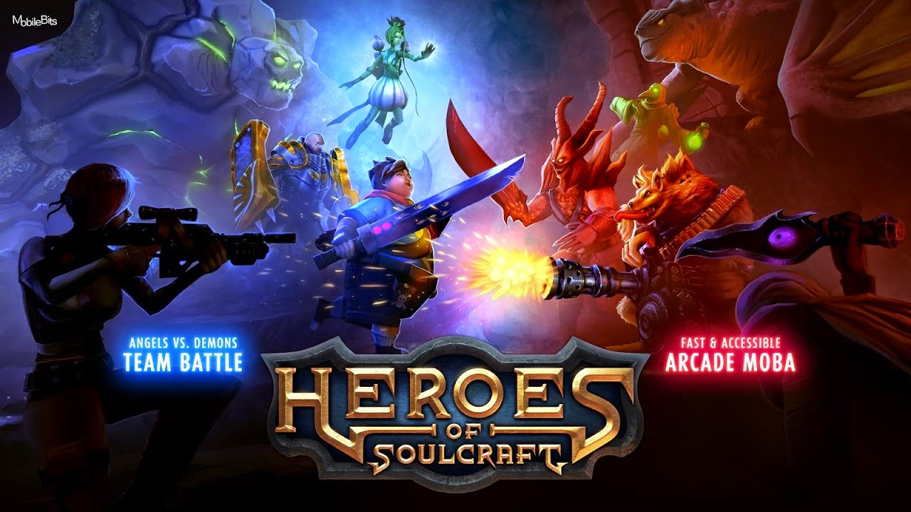 Heroes of SoulCraft (HoS) MOBA Gameplay IOS / Android