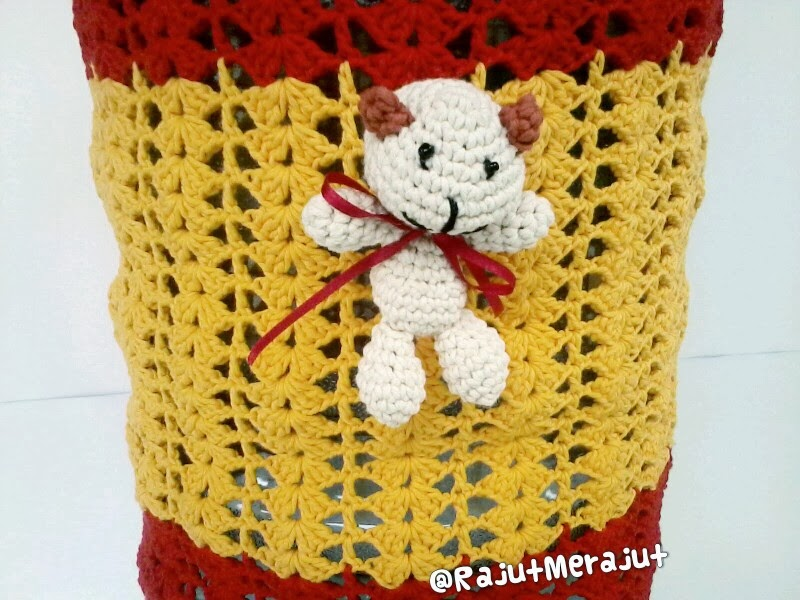 Tutup Galon Rajut, Crochet Gallon Cover, Amigurumi Teddy Bear