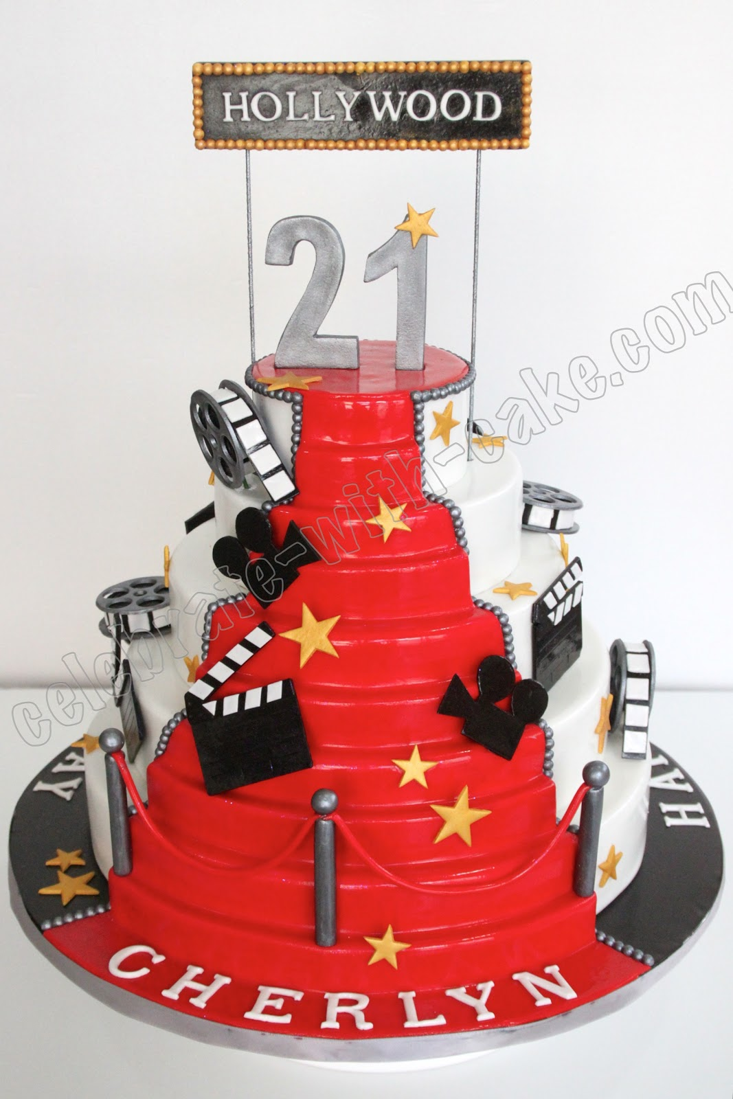 Celebrate With Cake Hollywood Themed Cake