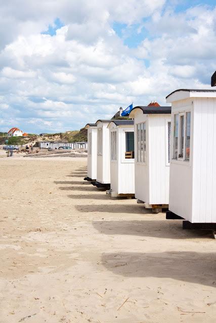Amalie loves Denmark Badehäuser am Strand von Løkken
