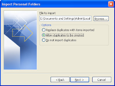 Import and Export  Microsoft Outlook Data Files from One Computer to Another