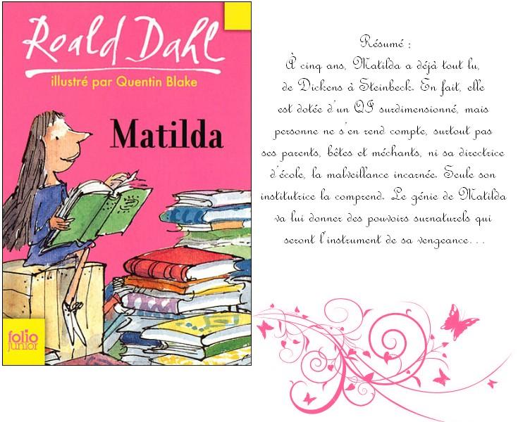 Matilda de roald dahl - La chambre des officiers resume du livre ...