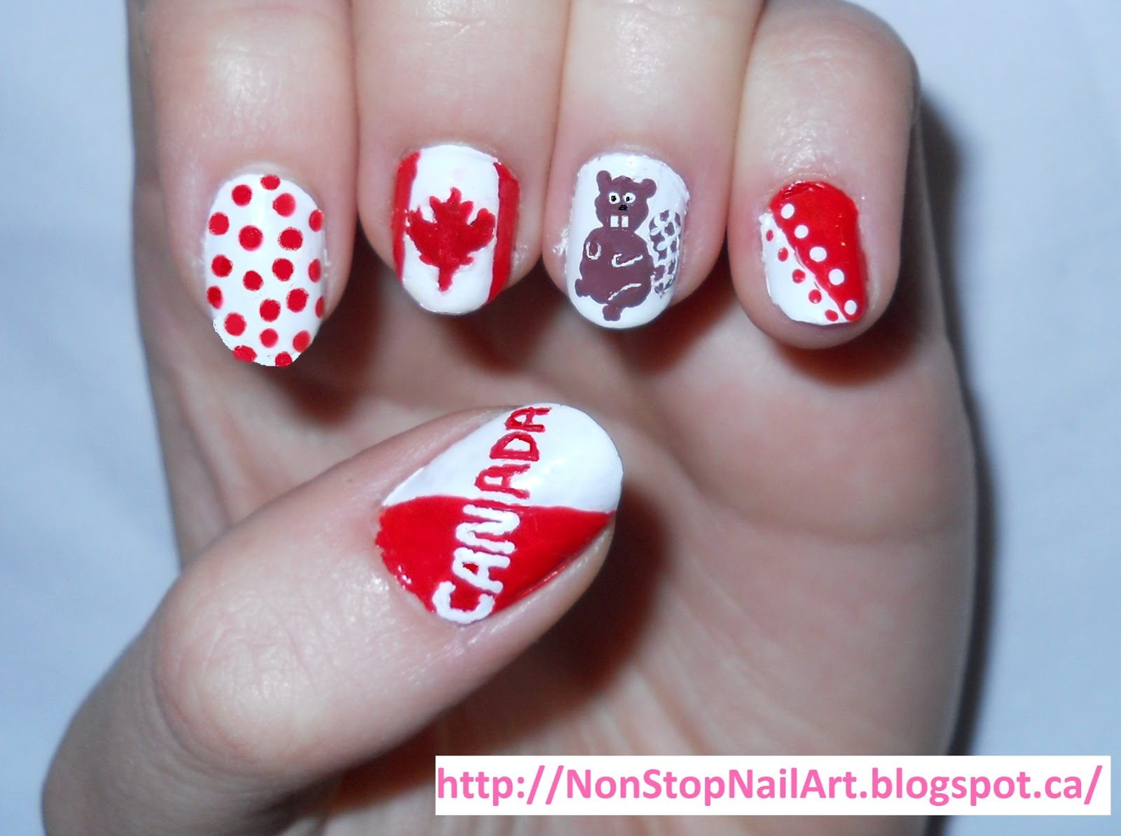 Non-Stop Nail Art: Canada Day Nails!