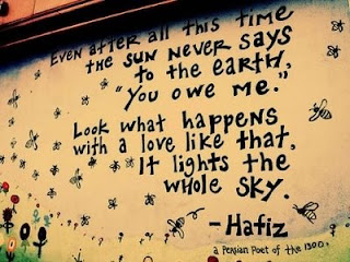 sun never say Love Quote and Saying