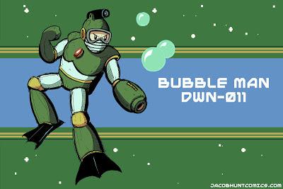 Robot Master Bubble Man from Mega Man 2