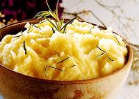 Purê de Batata com Alho e Cebola (vegana)
