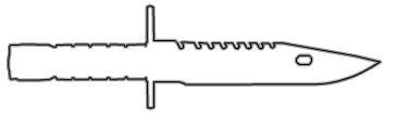 Схема штык нож из кс го