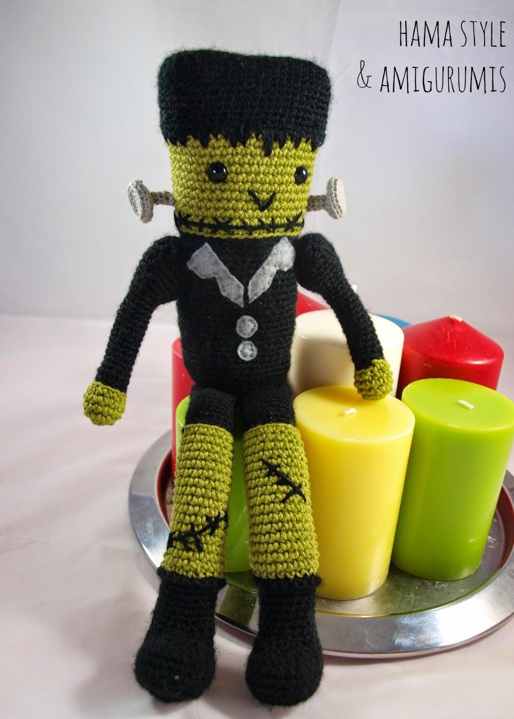 Marta Ruso Crochet Creativo: Frankenstein Amigurumi [PATRÓN GRATIS]