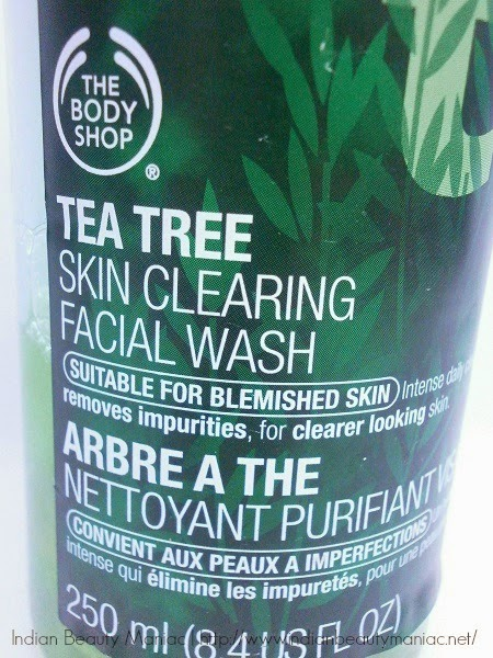 The Body Shop Tea Tree Facial Wash Review and Swatch on sensitive acne prone skin