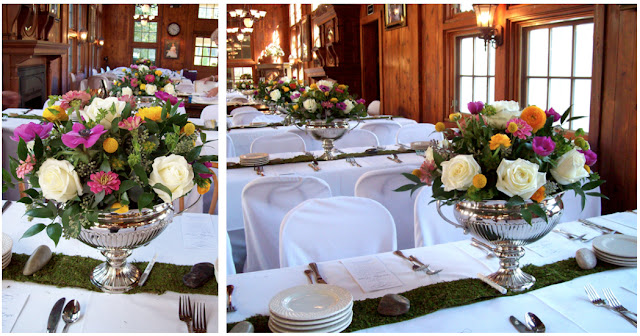 moss table runner wellers carriage house saline sweet pea floral design michigan wedding florist