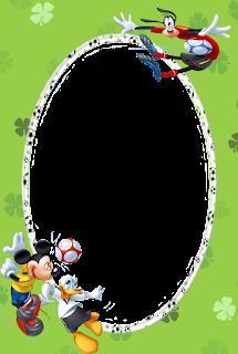 Caratulas para Niños: Mickey Mouse y sus Amigos jugando futbol