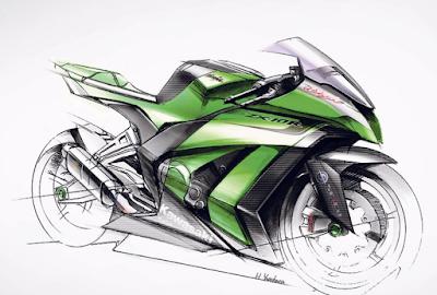 Sketsa Desain Kawasaki ZX-10R Terbaru 2016