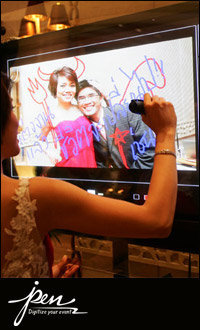 iPen: Digital Wedding Guest book