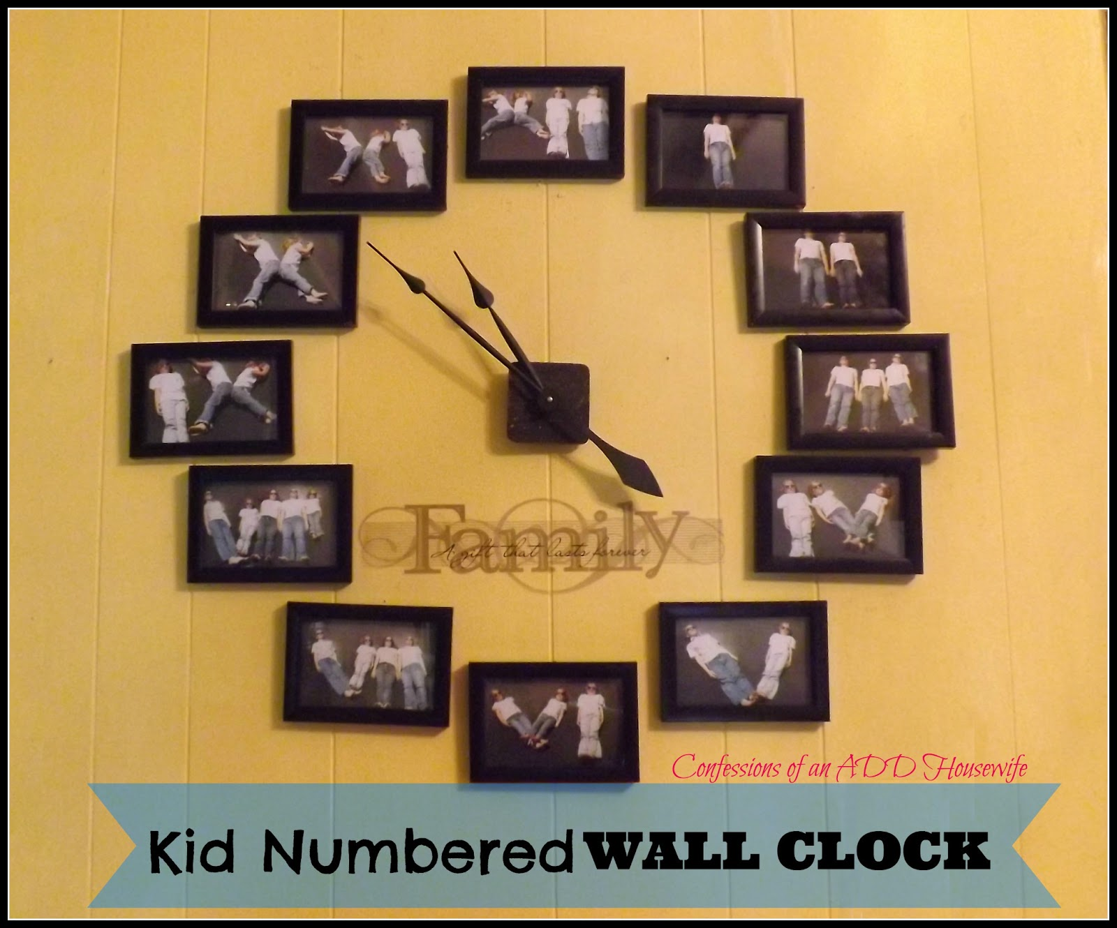 Confessions of an ADD English Teacher: Kid Numbered Wall Clock