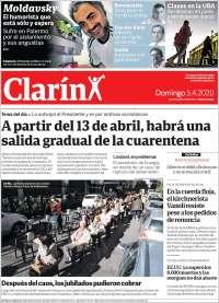 05/04/2020   ARGENTINA  UNA  PRIMERA PÁGINA DE LA PRENSA