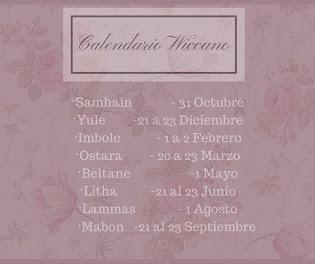 Calendario wiccano