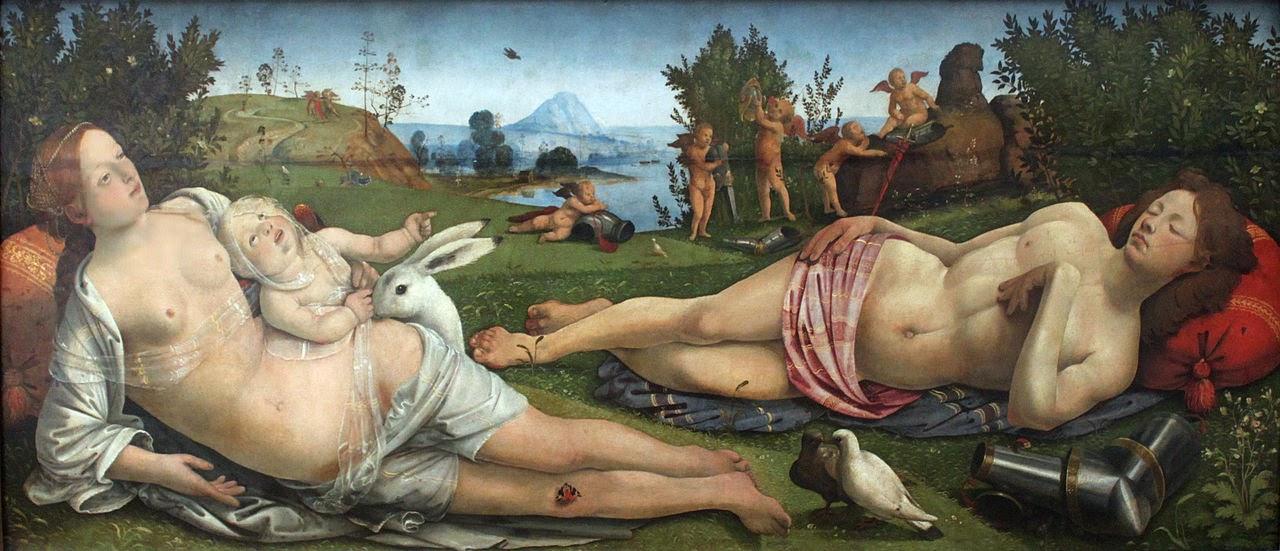 Venus, Marte y el Amor, Piero di Cosimo