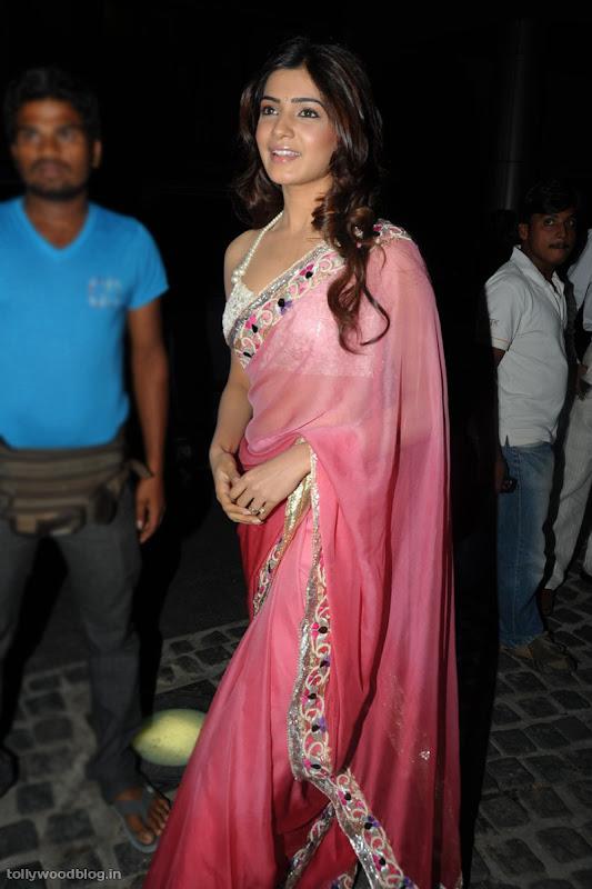 Samantha Ruth Prabhu latest new hot looking saree photos stills at Idea filmfare south  navel show