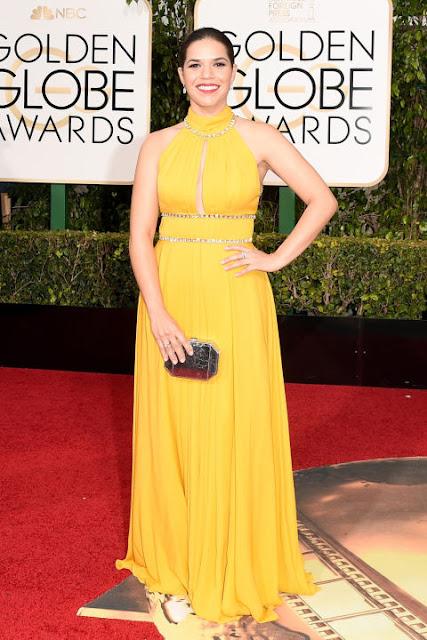 America Ferrera Jenny Packham Golden Globes 2016