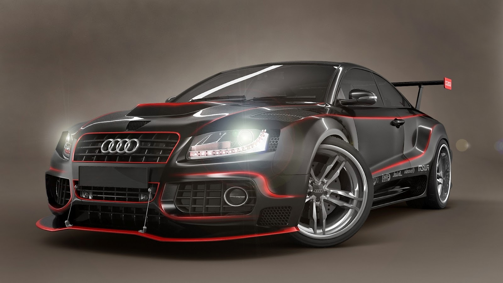 Audi S5 Modified Body Kit Red Lines HD Wallpaper ~ HD Car Wallpapers