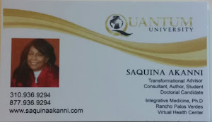 Saquina Akanni Business Card Front