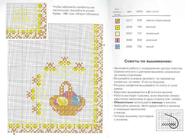 Салфетки и скатерти - схемы