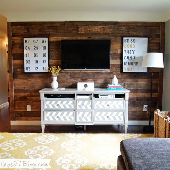 Pared forrada con Pallets