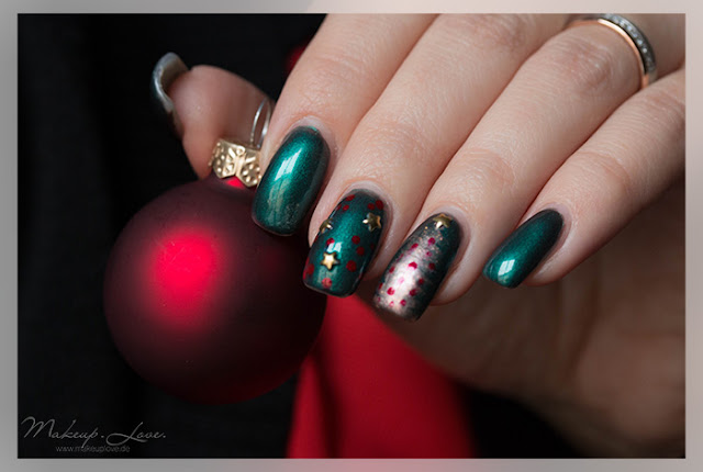 Naildesign 2015 Trend Weihnachten Rot Grün Gold Nails