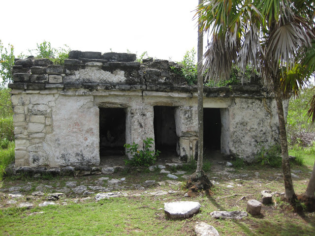 Ancient Mayan Trading Post Ruins Deep in the Middle of the Sian Ka'an Biosphere in Tulum, Mexico