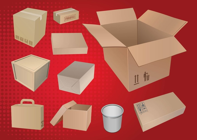 Free 3D Packaging Bag Vector Graphics Download