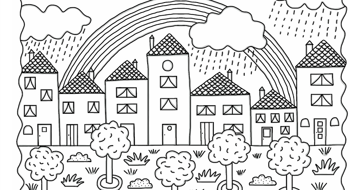 Cocolico creations mercredi coloriage 3 arc en ciel - Dessin de printemps a imprimer ...