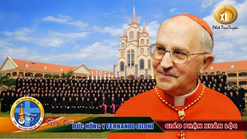 PHÁT TRỰC TUYẾN  Giáo phận Xuân Lộc đón tiếp ĐHY Fernando Filoni tại quảng trường TGM Xuân Lộc