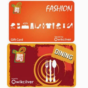GiftBig at Rs.1000 Dining Gift Card at Rs.900, GiftBig at Rs.2000 Fashion Gift Card at Rs.1800 from Amazon : Buy To Earn