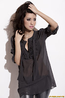 Christian Serratos in Gorgeous Darkness Emperor Black Blouse Fashion Model Photoshoot Session