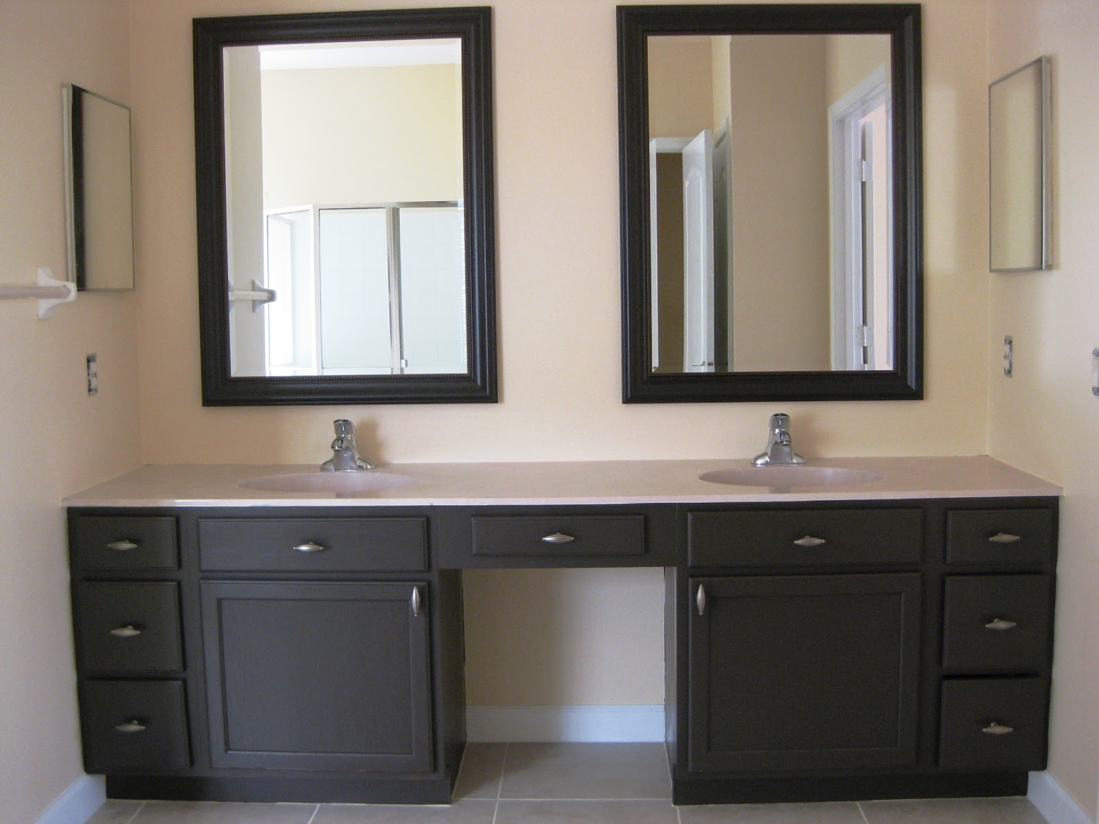 array of color inc painted bath room cabinets