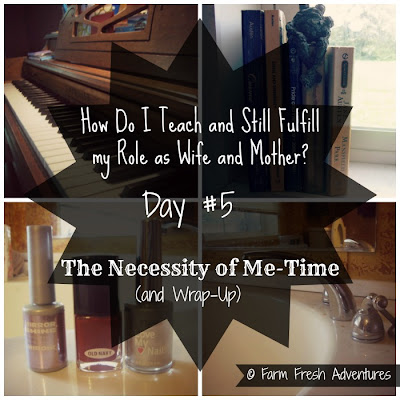 Necessity of Me-time