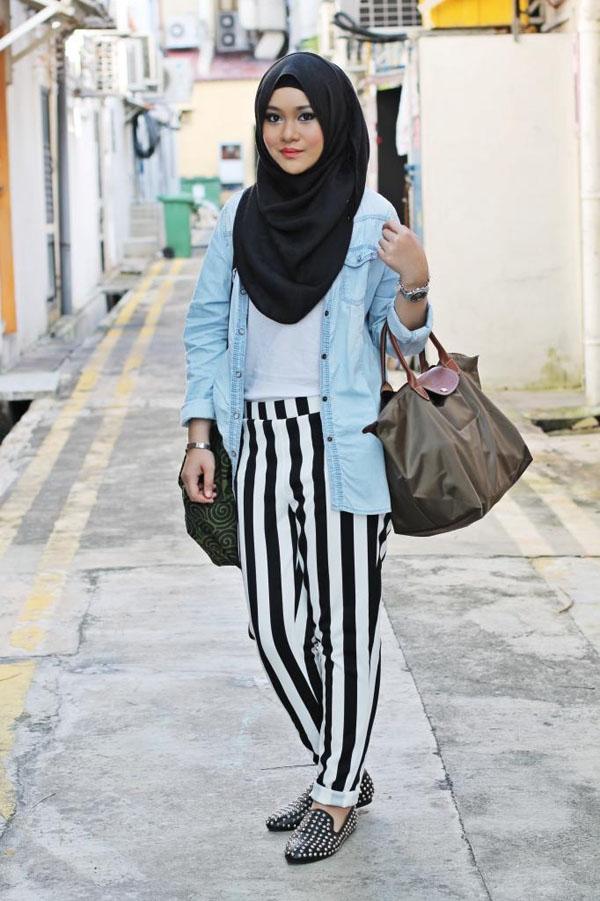 Jelek Bawel Hijab Preppy Chic Style