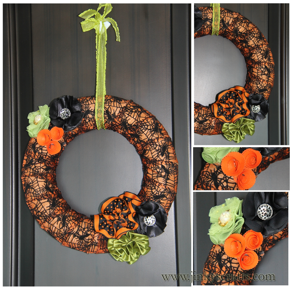 Jinky 39 S Crafts Designs Halloween Decor Diy Ribbon