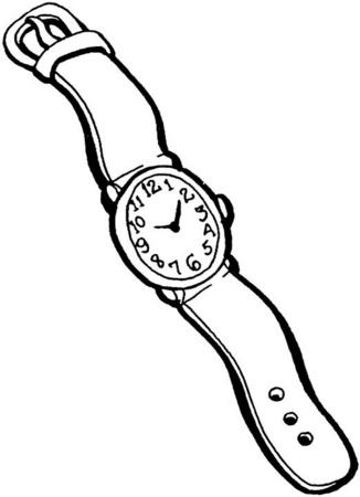 Reloj de pulsera para colorear y pintar - Dibujo Views