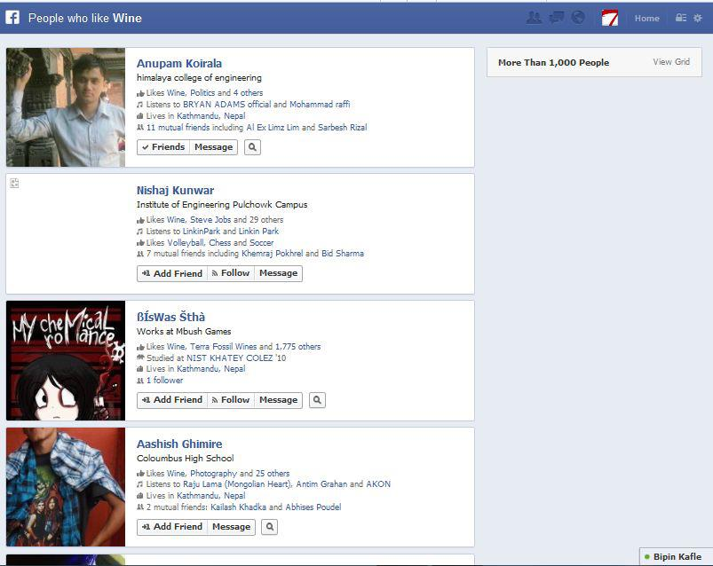 facebook how to search for someone alphabetically