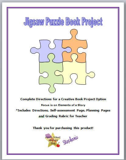 book report projects middle school