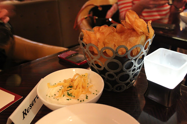 Housemade potato chips at Bond, Boston, Mass.