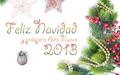Postal con adornos navideños para compartir 2013